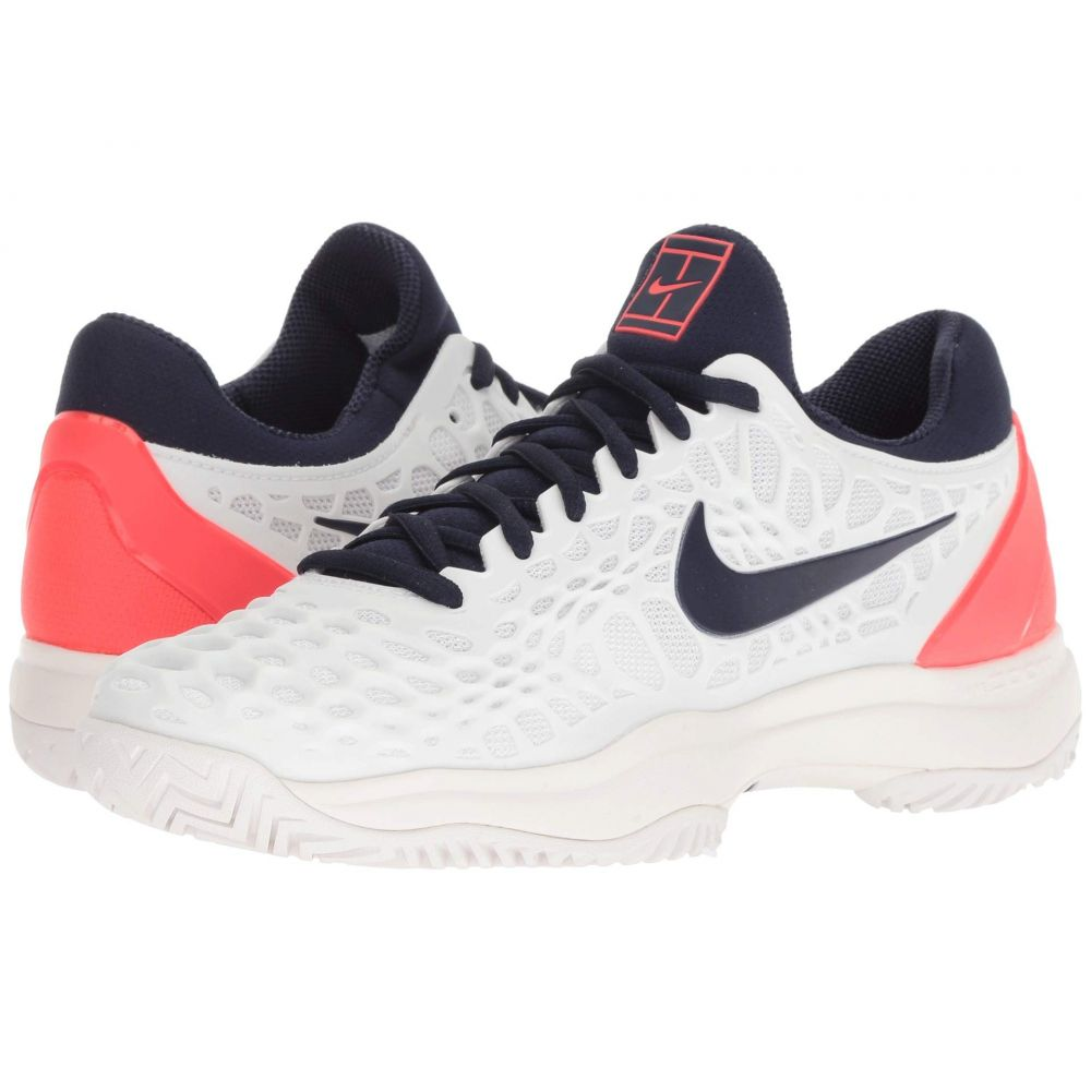ナイキ Nike メンズ テニス シューズ・靴【Zoom Cage 3 HC】White/Blackened Blue/Bright Crimson