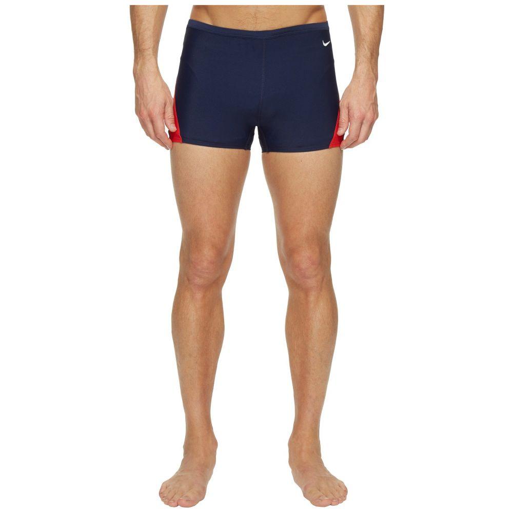 ナイキ Nike メンズ 水着・ビーチウェア 海パン【Surge Color Block Poly Square Leg Brief】Red/Navy