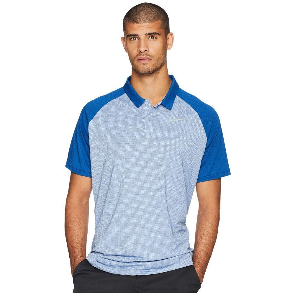 ナイキ Nike Golf メンズ トップス ポロシャツ【Dry Polo Raglan】Royal Tint/Gym Blue/Heather/Flint Silver
