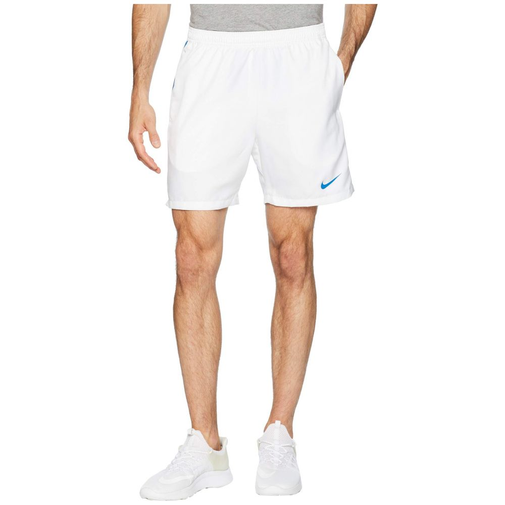 ナイキ Nike メンズ テニス ボトムス・パンツ【Court Dry 7' Tennis Short】White/Military Blue/Military Blue