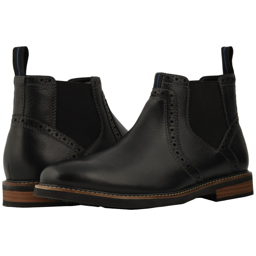 ナンブッシュ Nunn Bush メンズ シューズ・靴 ブーツ【Otis Plain Toe Chelsea Boot with KORE Walking Comfort Technology】Black Tumbled