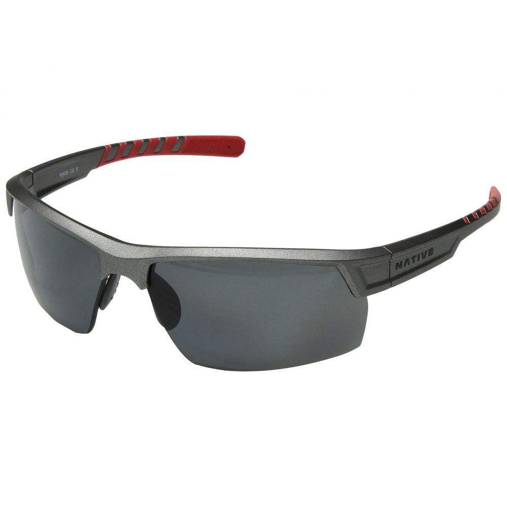 ネイティブアイウェア Native Eyewear レディース スポーツサングラス【Catamount】Platinum/Gray Polarized Lens