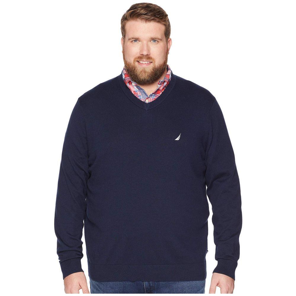 ノーティカ Nautica Big & Tall メンズ トップス ニット・セーター【Big & Tall Jersey V-Neck Sweater】Navy