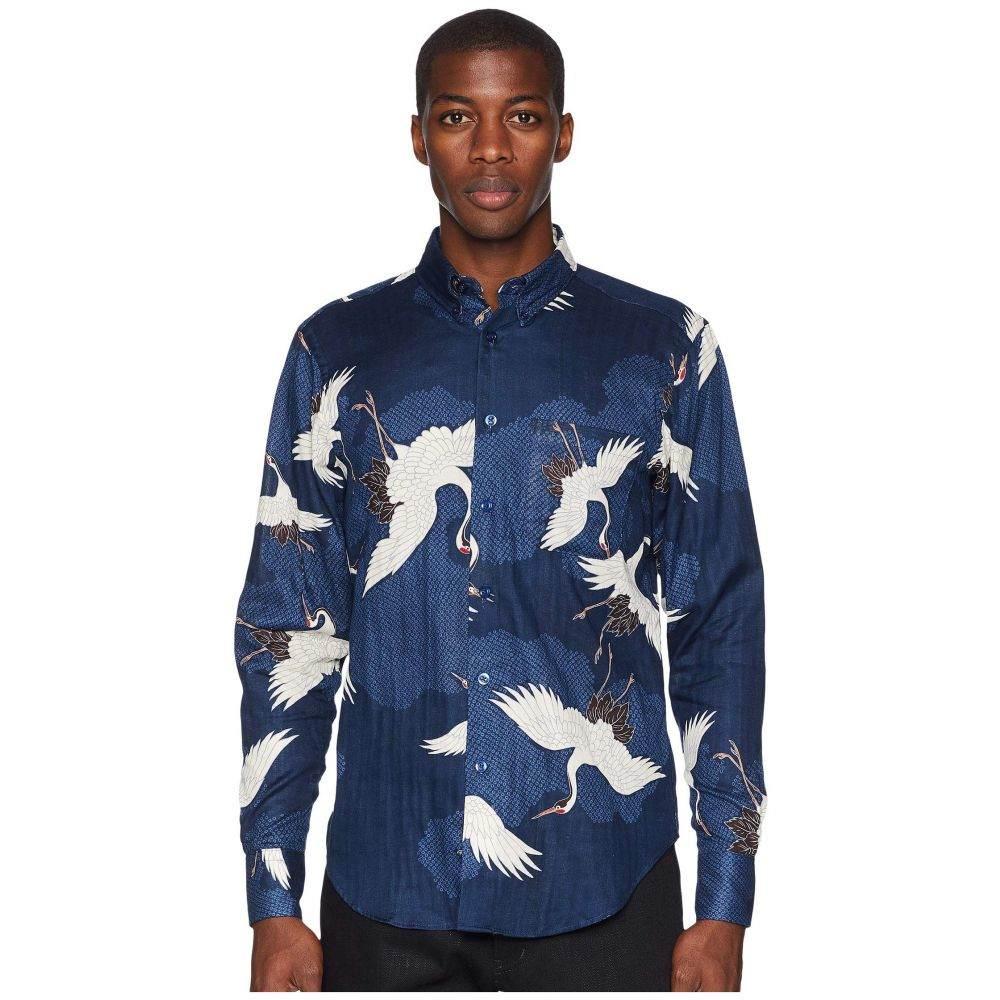 ネイキッド アンド フェイマス Naked & Famous メンズ トップス シャツ【Easy Shirt Japanese Crane】Blue