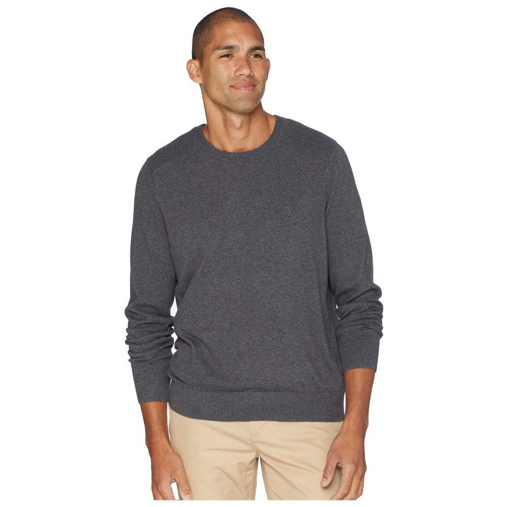 ノーティカ Nautica メンズ トップス ニット・セーター【Solid Crew Neck Sweater】Charcoal Heather