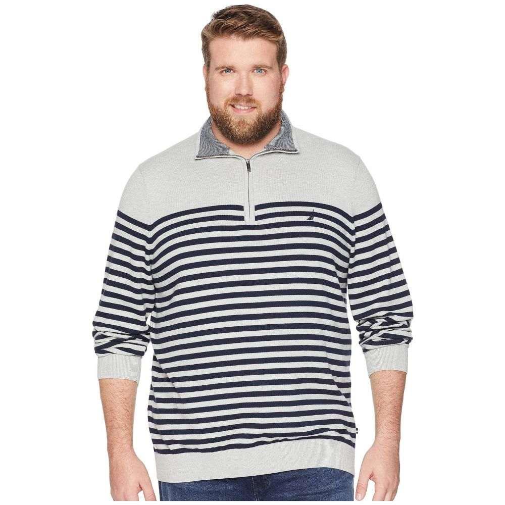 ノーティカ Nautica Big & Tall メンズ トップス ニット・セーター【Big & Tall 1/2 Zip Mock Pullover】Grey Heather