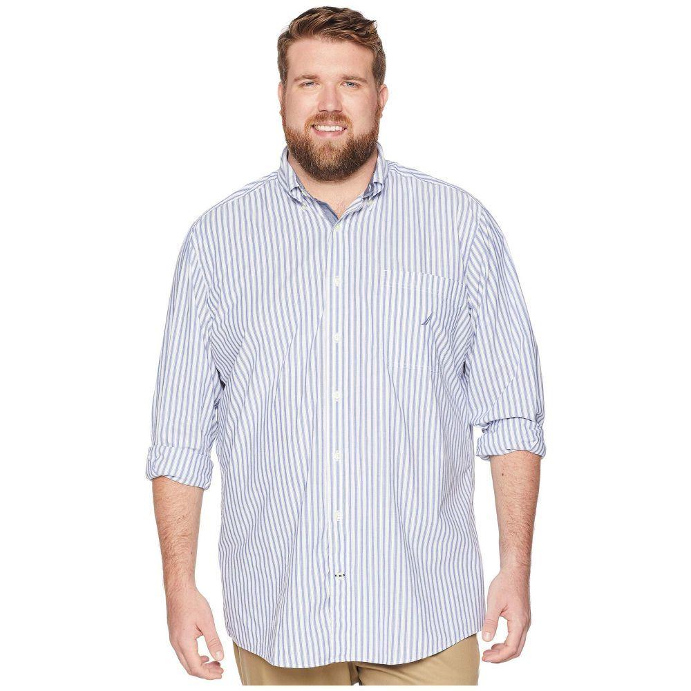 ノーティカ Nautica Big & Tall メンズ トップス シャツ【Big & Tall Classic Casual Stripe Shirt】Ocean Lapis