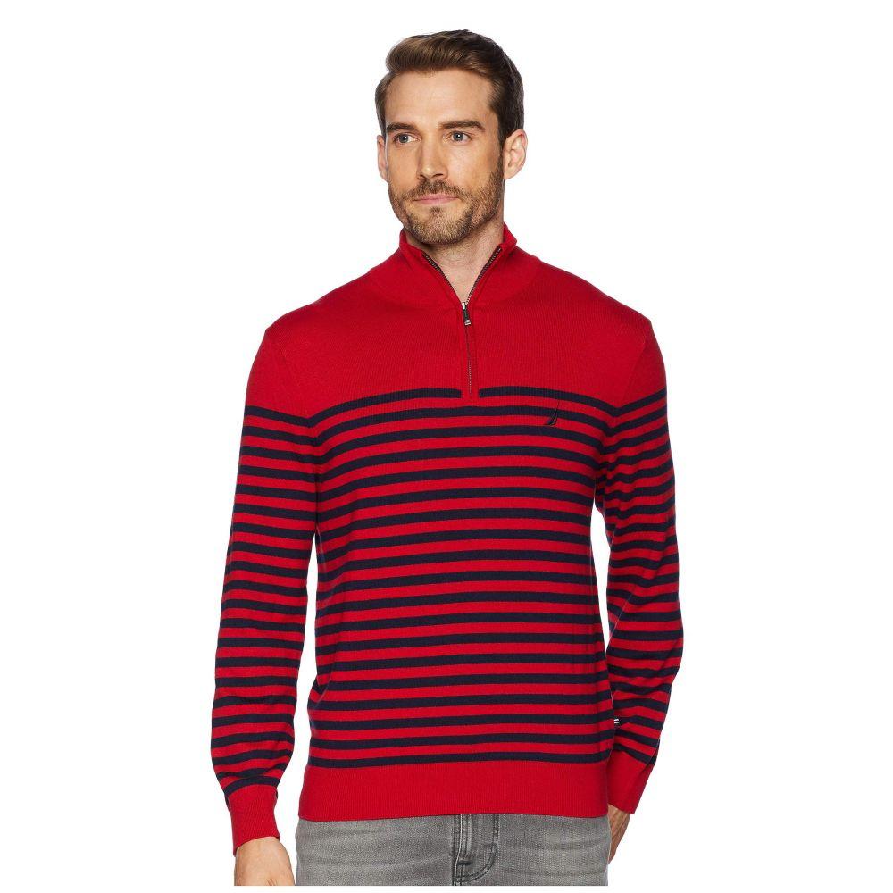 ノーティカ Nautica メンズ トップス ニット・セーター【12 Gauge 1/2 Zip Bretton Sweater】Nautica Red