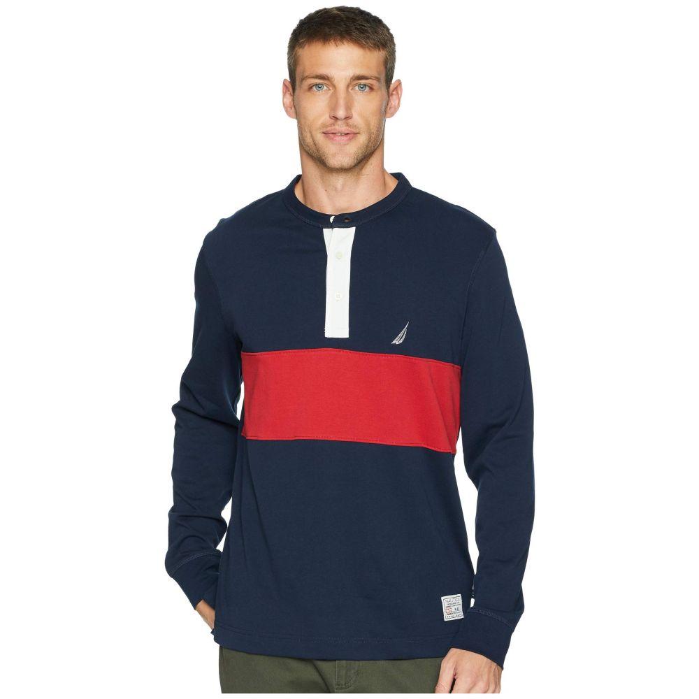 ノーティカ Nautica メンズ トップス 長袖Tシャツ【Long Sleeve Woven Color Block】Navy