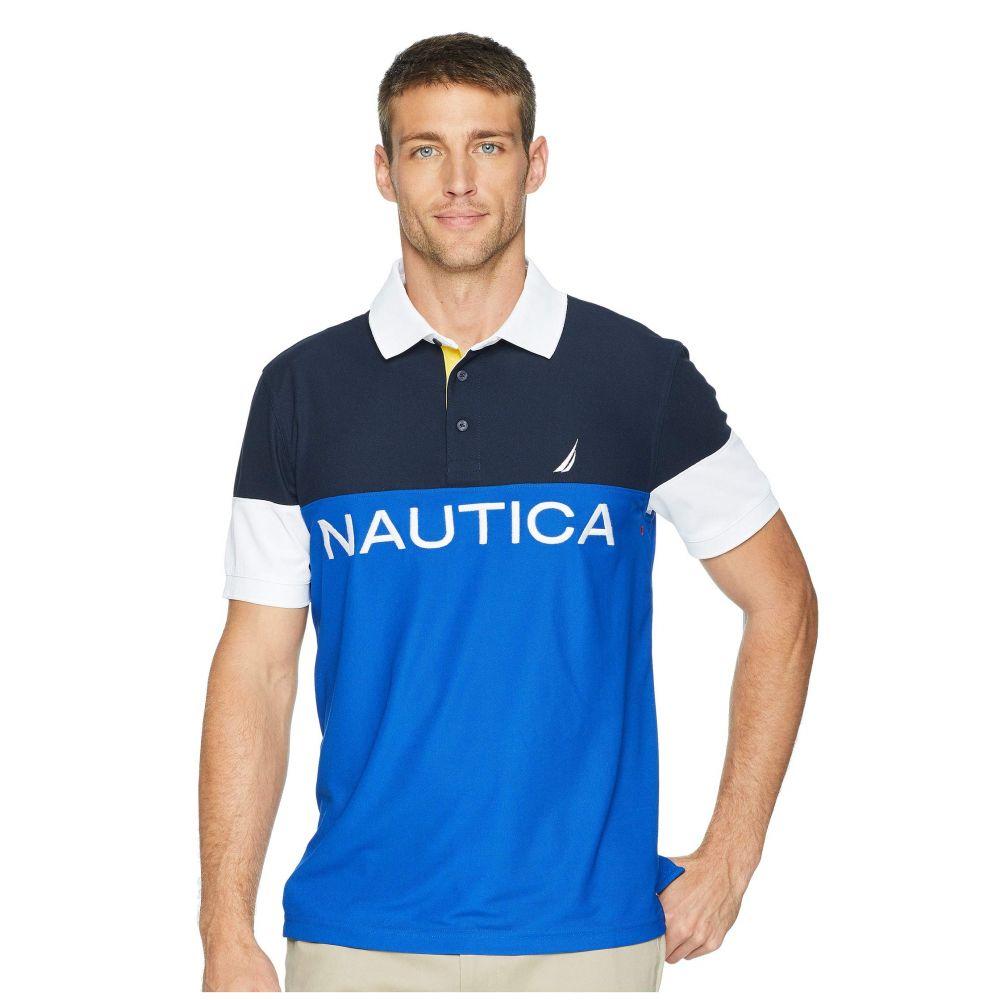 ノーティカ Nautica メンズ トップス ポロシャツ【Short Sleeve Blocked Polo】Bright Cobalt