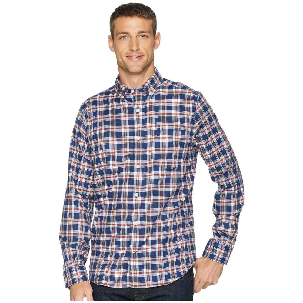 ノーティカ Nautica メンズ トップス シャツ【Long Sleeve Wear to Work Medium Plaid Woven Shirt】J Navy