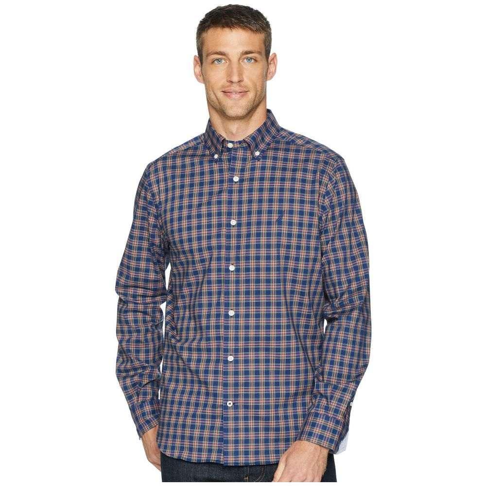 ノーティカ Nautica メンズ トップス シャツ【Long Sleeve Wear to Work Classic Plaid Woven Shirt】J Navy