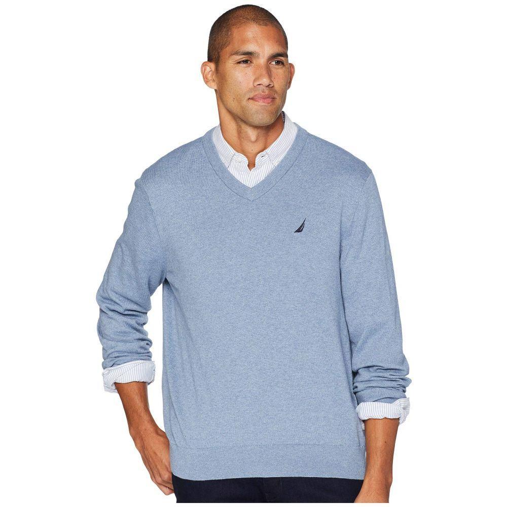 ノーティカ Nautica メンズ トップス ニット・セーター【12 Gauge Jersey V-Neck Sweater】Deep Anchor Heather