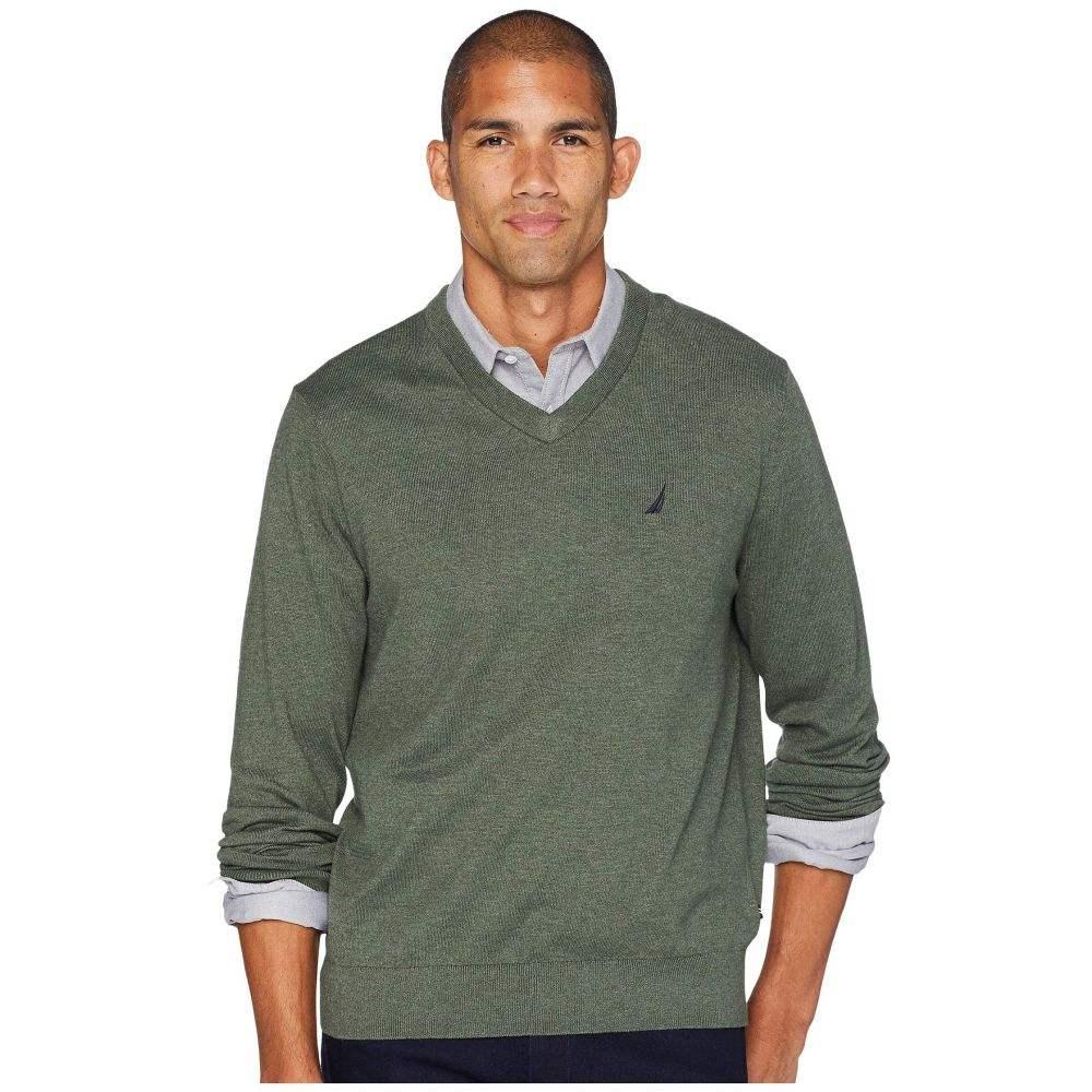 ノーティカ Nautica メンズ トップス ニット・セーター【12 Gauge Jersey V-Neck Sweater】Pine Forest Heather