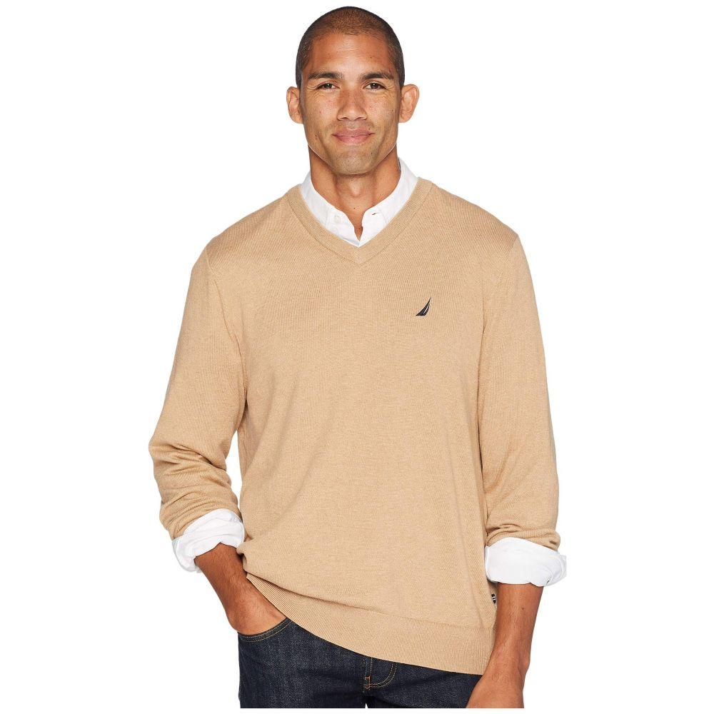 ノーティカ Nautica メンズ トップス ニット・セーター【12 Gauge Jersey V-Neck Sweater】Camel Heather