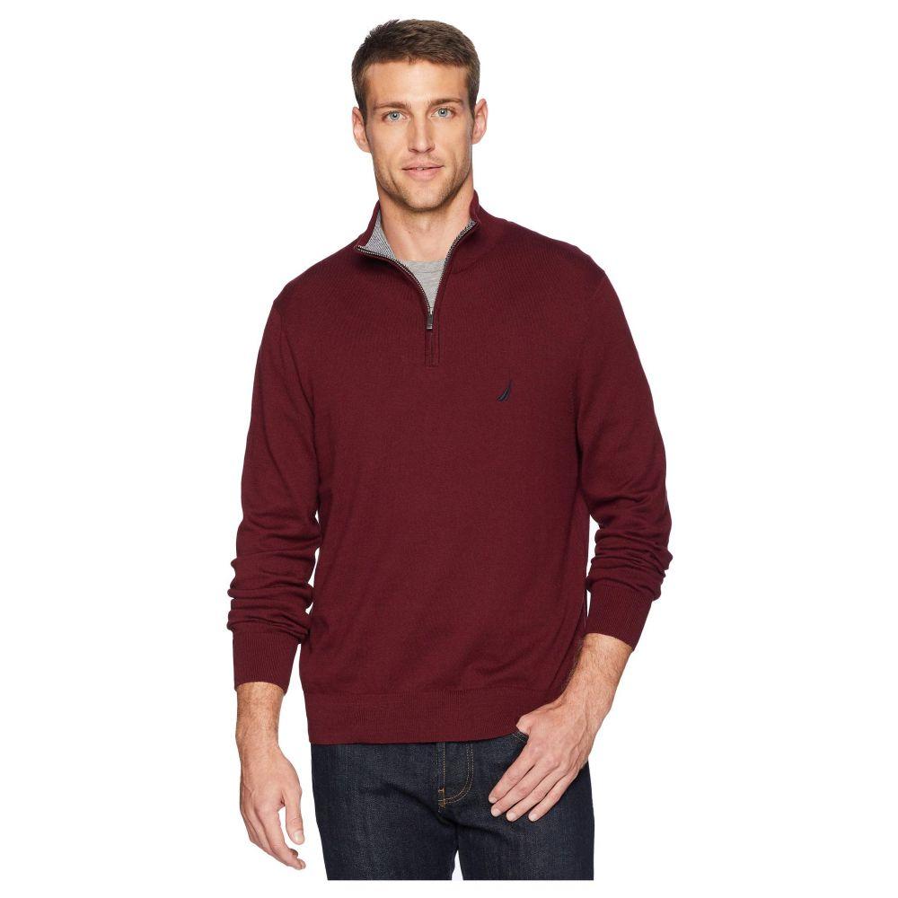 ノーティカ Nautica メンズ トップス ニット・セーター【12 Gauge 1/4 Zip Sweater】Royal Burgundy