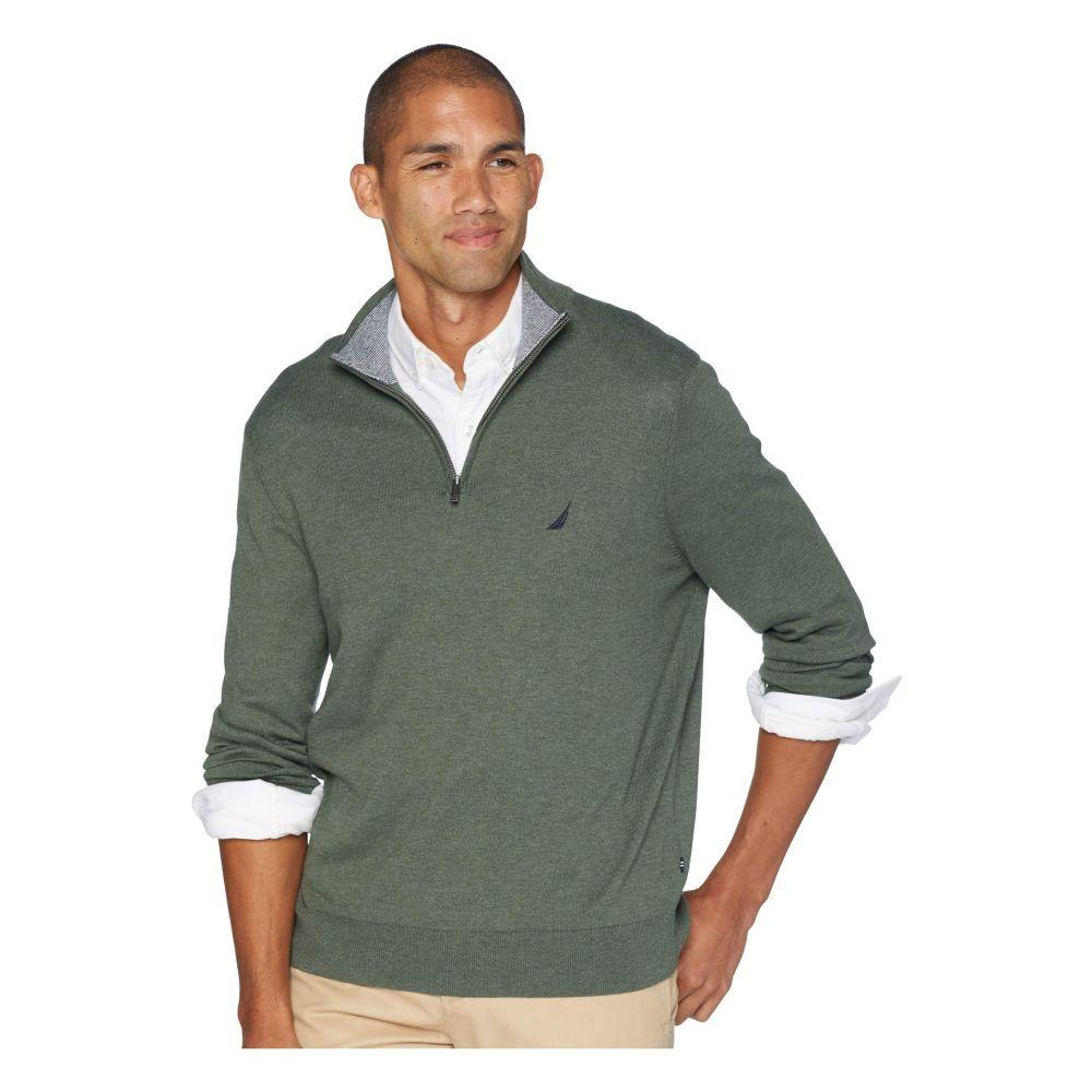 ノーティカ Nautica メンズ トップス ニット・セーター【12 Gauge 1/4 Zip Sweater】Pine Forest Heather