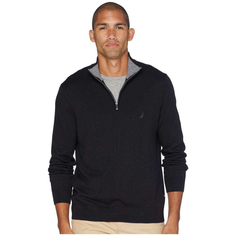 ノーティカ Nautica メンズ トップス ニット・セーター【12 Gauge 1/4 Zip Sweater】True Black