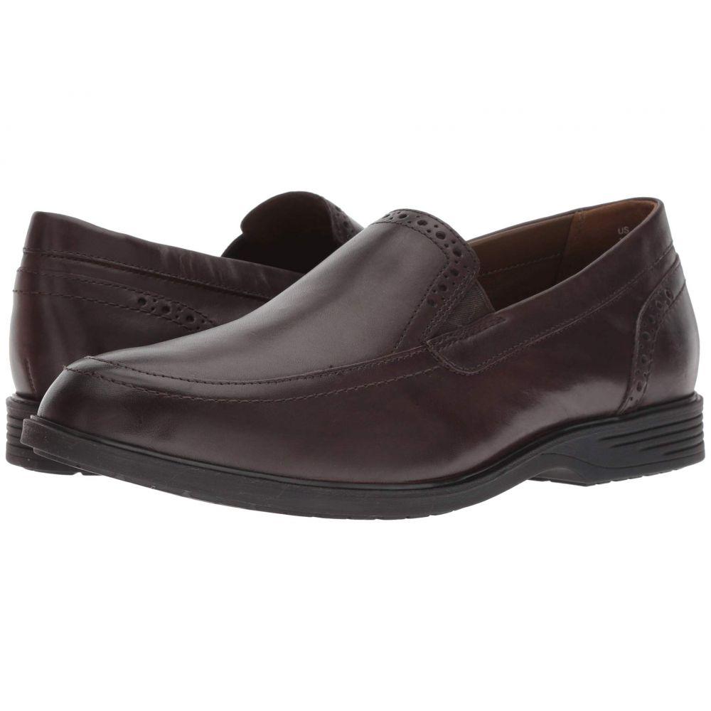 ハッシュパピー Hush Puppies メンズ シューズ・靴 スリッポン・フラット【Shepsky Slip-On】Dark Brown Leather