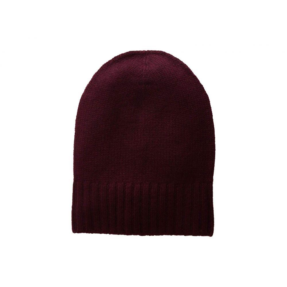 ハットアタック Hat Attack レディース 帽子 ニット【Cashmere Slouchy/Cuff Hat】Burgundy