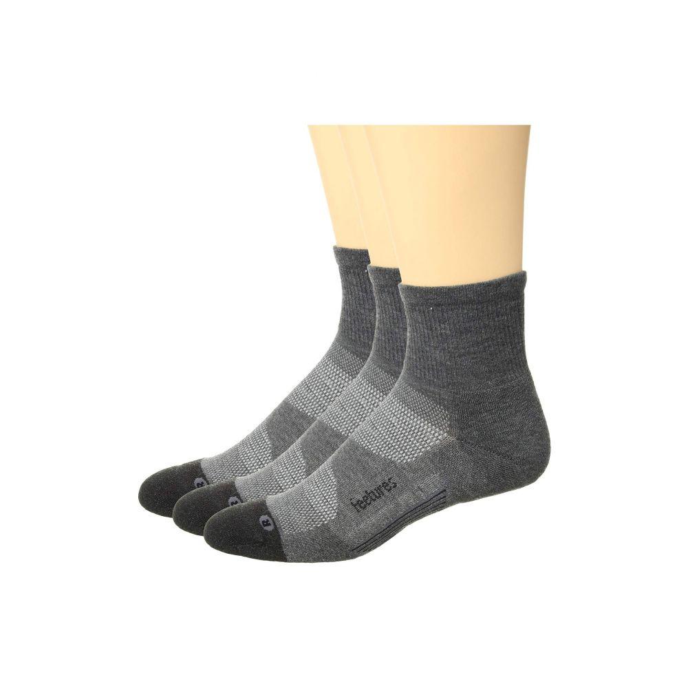 買い保障できる フィーチャーズ Feetures レディース インナー・下着 ソックス【Elite Max Cushion Quarter 3-Pair Pack】Gray, 新郷村 40aa7c9c