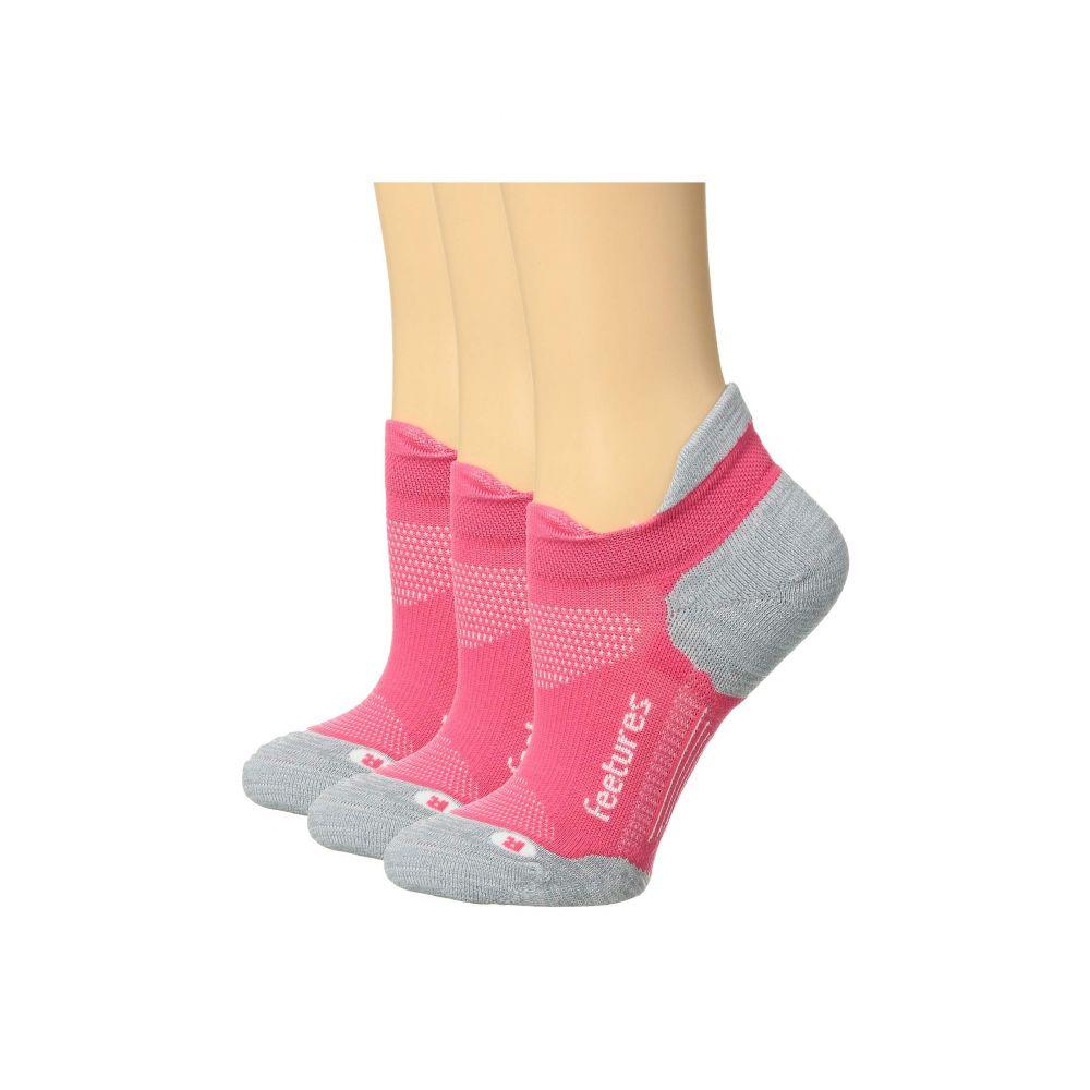フィーチャーズ Feetures レディース インナー・下着 ソックス【Elite Light Cushion 3-Pair Pack】Coral