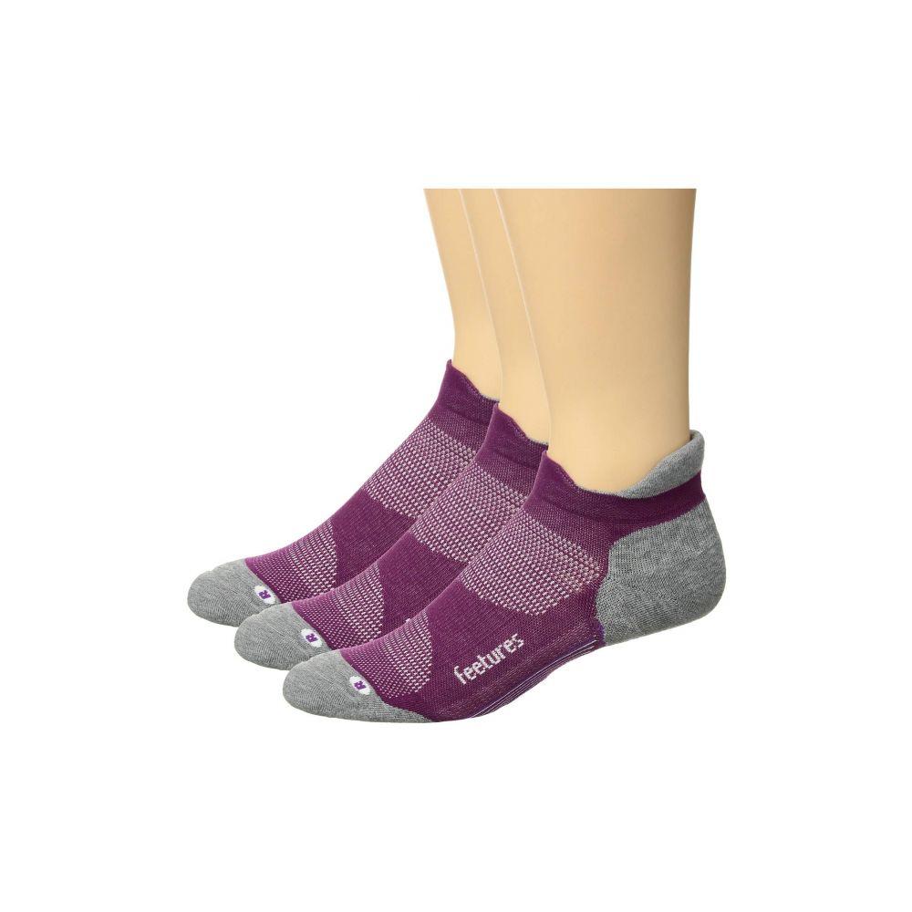 フィーチャーズ Feetures レディース インナー・下着 ソックス【Elite Max Cushion 3-Pair Pack】Ruby