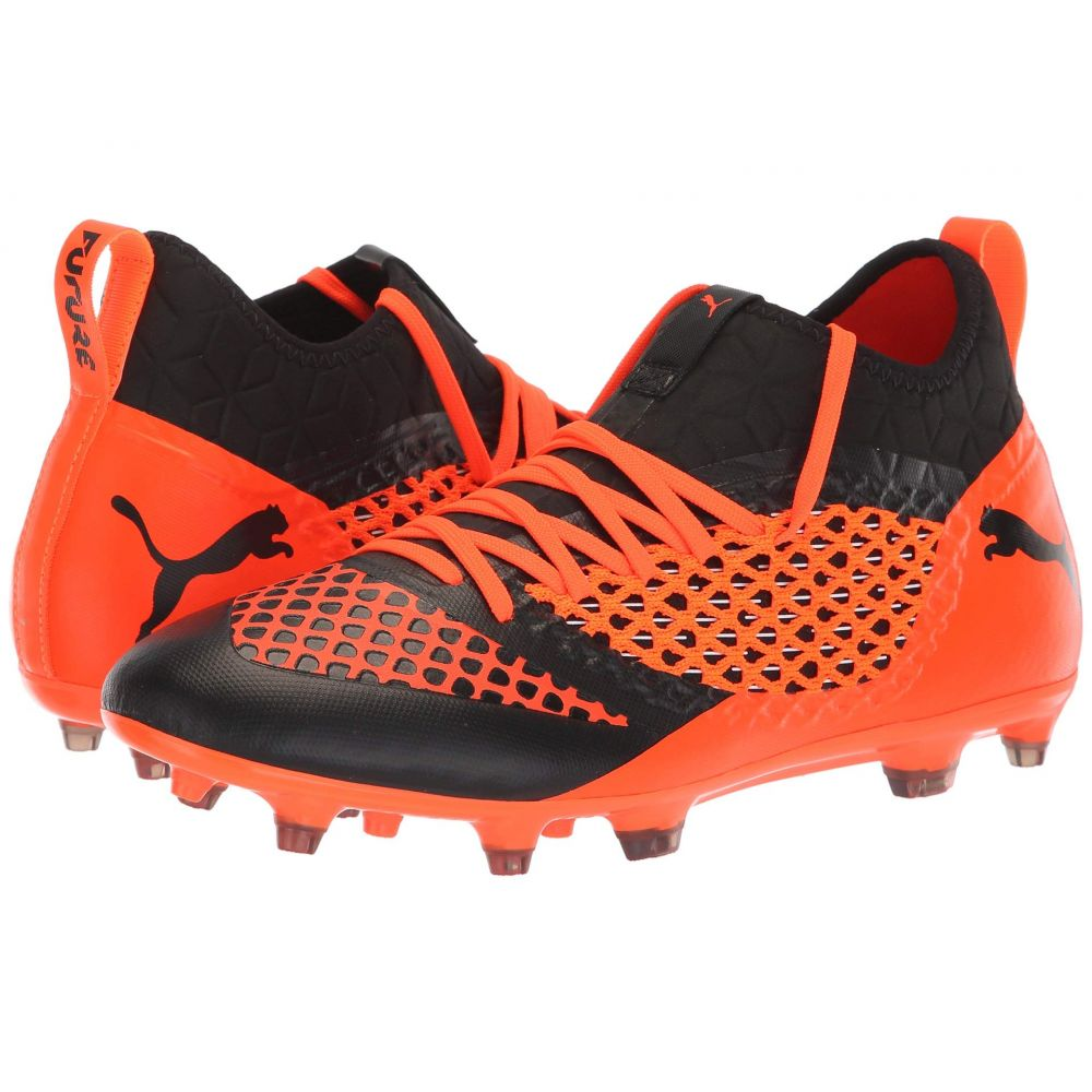 プーマ PUMA メンズ サッカー シューズ・靴【Future 2.3 Netfit FG/AG】Puma Black/Shocking Orange