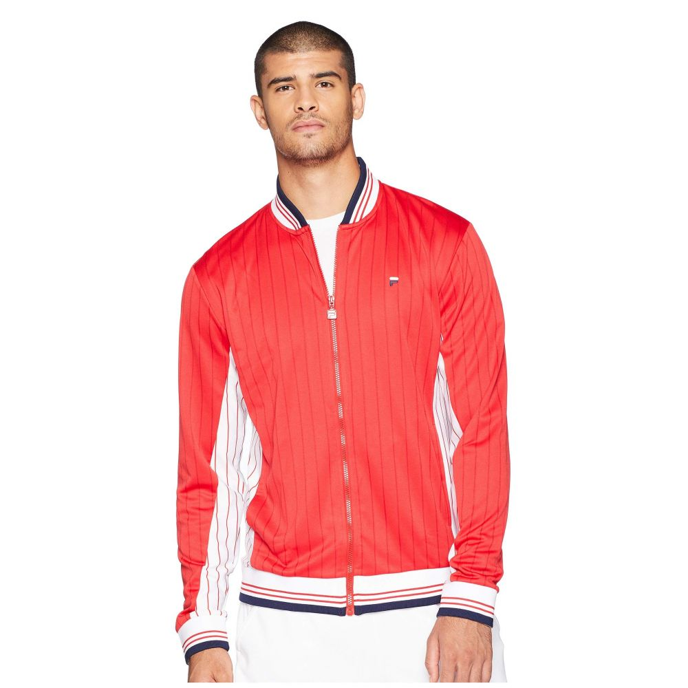 フィラ Fila メンズ テニス アウター【Heritage Tennis Jacket】Chinese Red/White/Navy