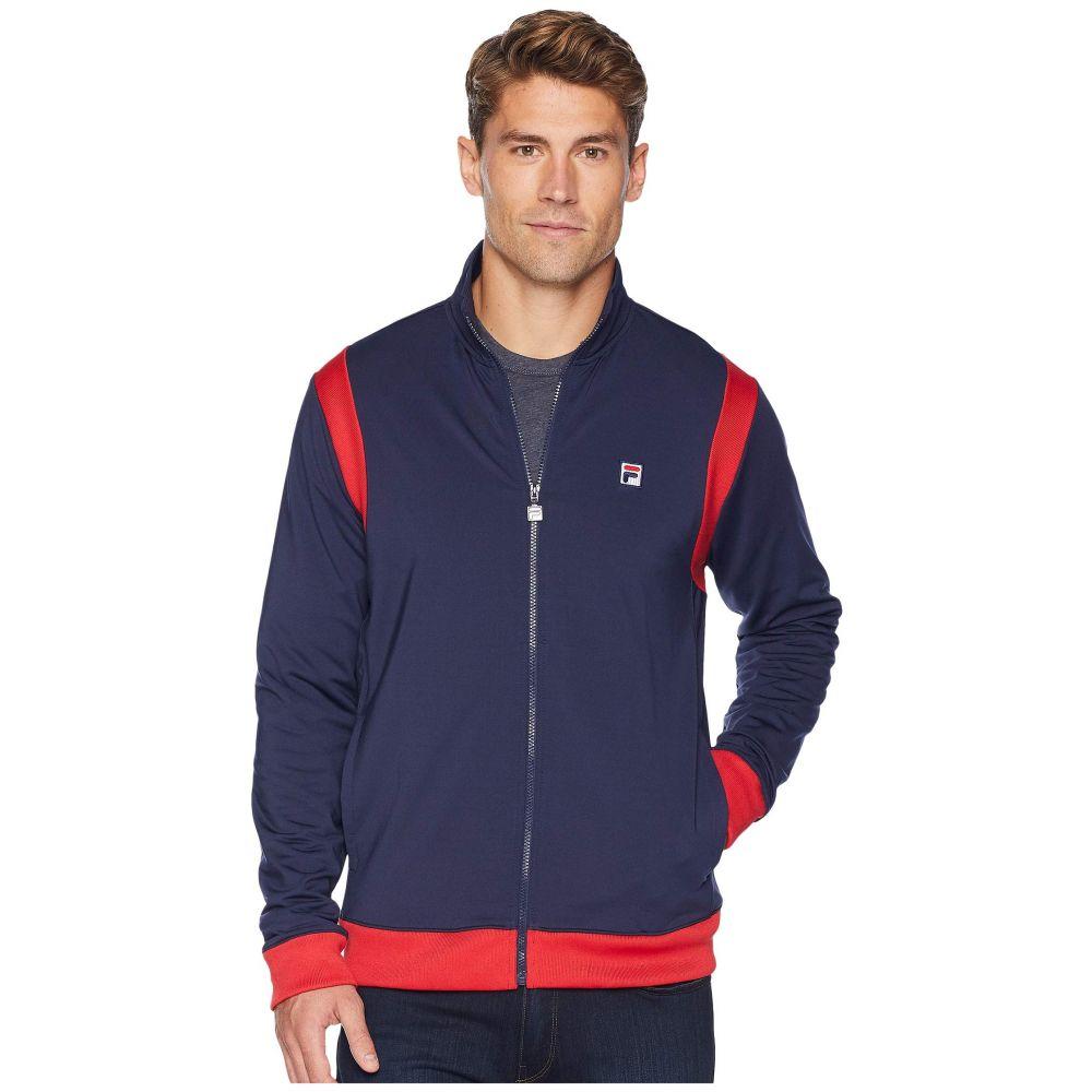 フィラ Fila メンズ テニス アウター【Heritage Tennis Jacket】Navy/Chinese Red/White