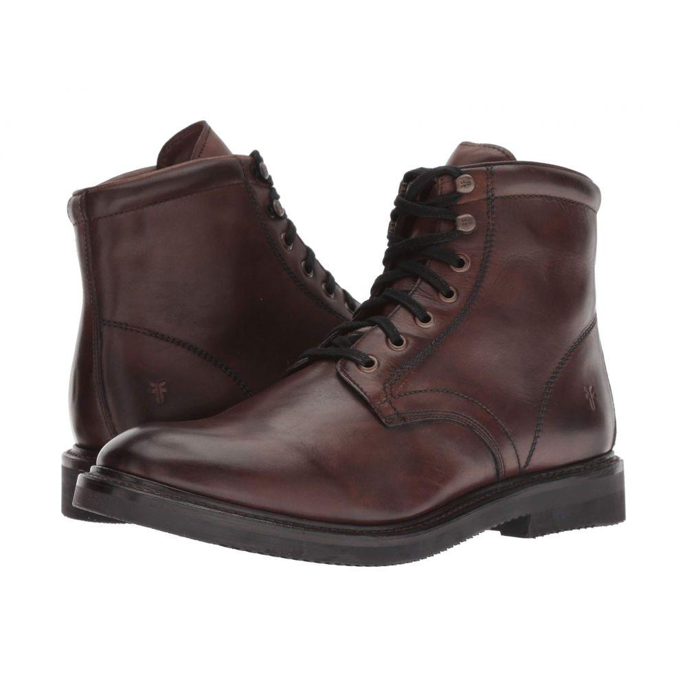 フライ Frye メンズ シューズ・靴 ブーツ【Gordon Lace-Up】Dark Brown Hammered Dip-Dye Leather