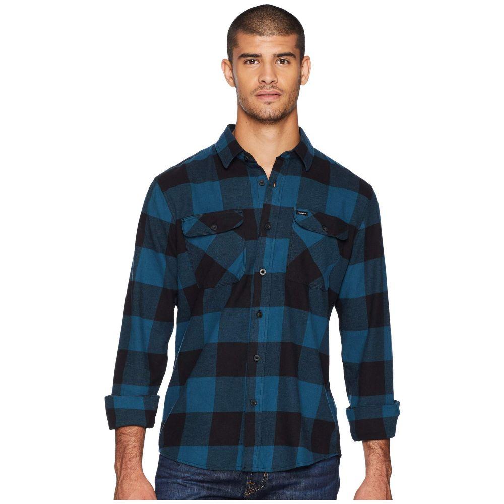 ブリクストン Brixton メンズ トップス シャツ【Bowery Lightweight Long Sleeve Flannel】Black/Teal