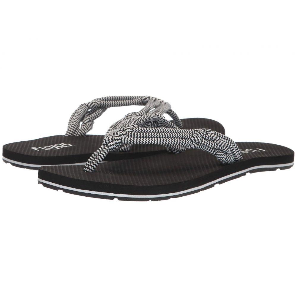 フロジョス Flojos レディース シューズ・靴 ビーチサンダル【Aster】Black/White