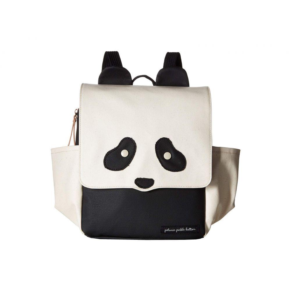 ペチュニアピックルボトム petunia pickle bottom レディース バッグ バックパック・リュック【Black Panda Mini Me Critter Pack】Ivory/Black