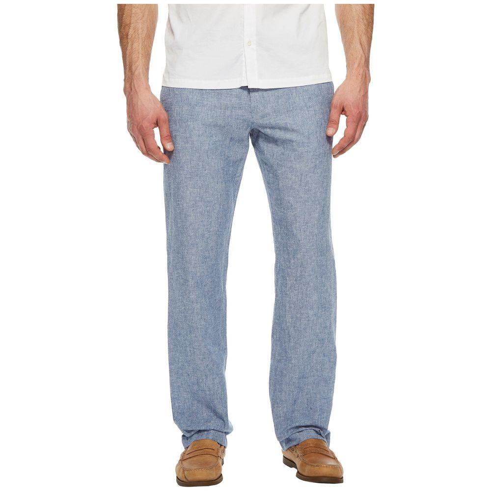 ペリー エリス Perry Ellis メンズ ボトムス・パンツ【Linen Cotton Drawstring Pants】Bay Blue