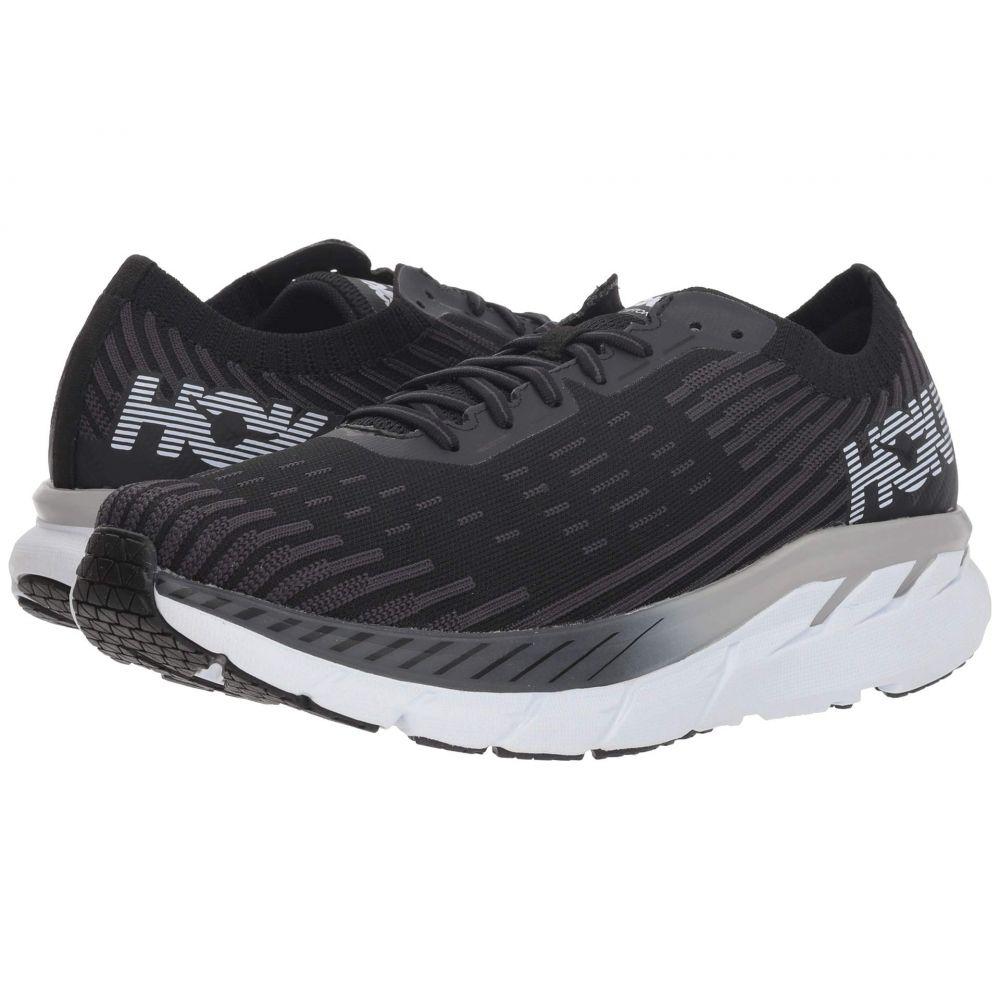 ホカ オネオネ Hoka One One メンズ ランニング・ウォーキング シューズ・靴【Clifton 5 Knit】Black/White