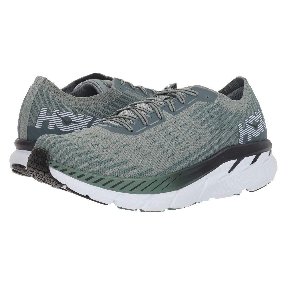 ホカ オネオネ Hoka One One メンズ ランニング・ウォーキング シューズ・靴【Clifton 5 Knit】Silver Pine/Chinois Green