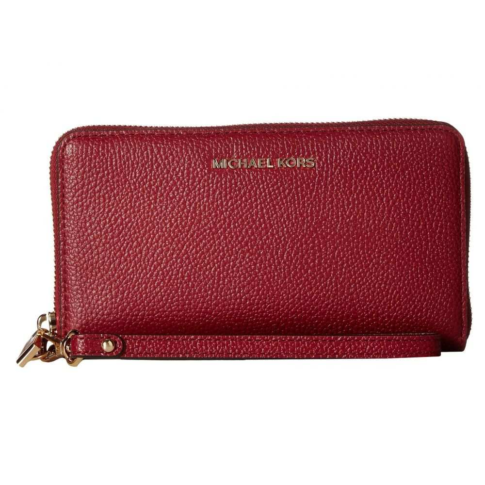 マイケル コース MICHAEL Michael Kors レディース スマホケース【Large Flat Multifunction Phone Case】Maroon