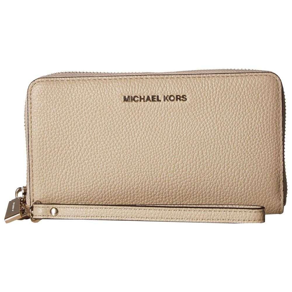 マイケル コース MICHAEL Michael Kors レディース スマホケース【Large Flat Multifunction Phone Case】Oat