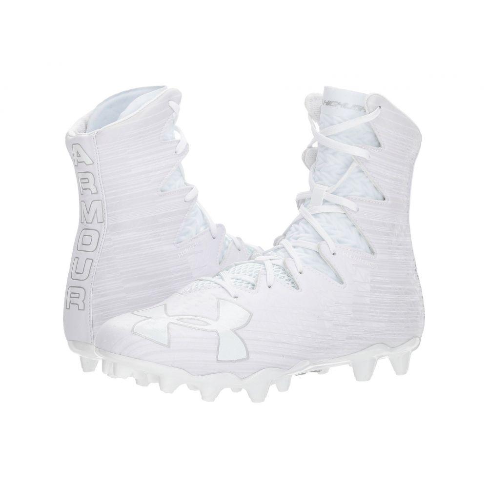 アンダーアーマー Under Armour メンズ アメリカンフットボール シューズ・靴【UA Highlight MC】White/Metallic Silver 2