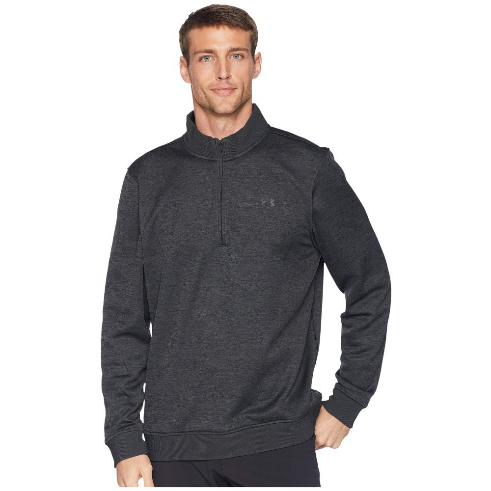 アンダーアーマー Under Armour Golf メンズ トップス ニット・セーター【UA Storm Sweaterfleece 1/4 Zip】Black Full Heather/Black