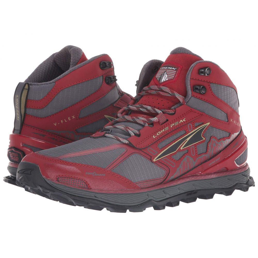 アルトラ Altra Footwear メンズ ランニング・ウォーキング シューズ・靴【Lone Peak 4 Mid Mesh】Red