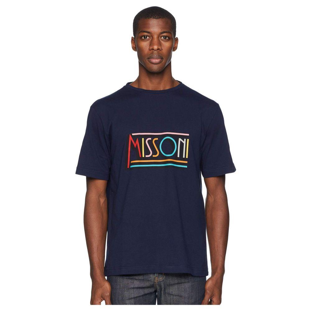 ミッソーニ Missoni メンズ トップス Tシャツ【Retro Logo T-shirt】Navy