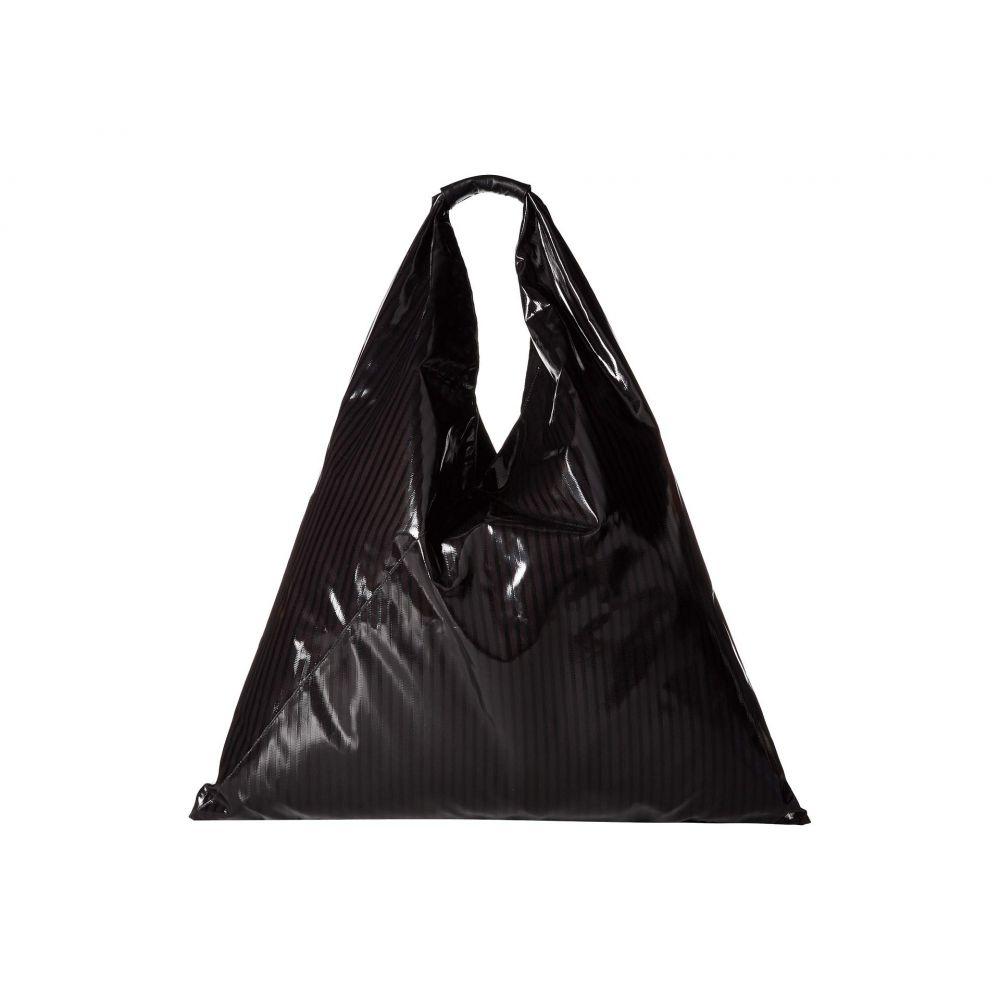 メゾン マルジェラ MM6 Maison Margiela レディース バッグ トートバッグ【Pinstripe Triangle Tote】Black