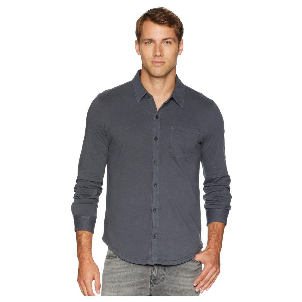 モドオードック Mod-o-doc メンズ トップス シャツ【Summerland Knit Long Sleeve Jersey Button Front Shirt】Irongate