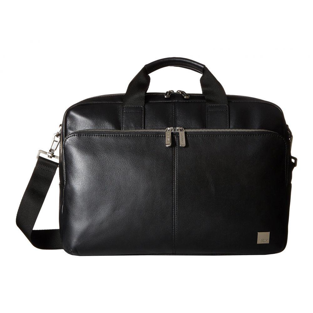 モノ KNOMO London メンズ バッグ ビジネスバッグ・ブリーフケース【Brompton Classic Amesbury Double Zip Briefcase】Black