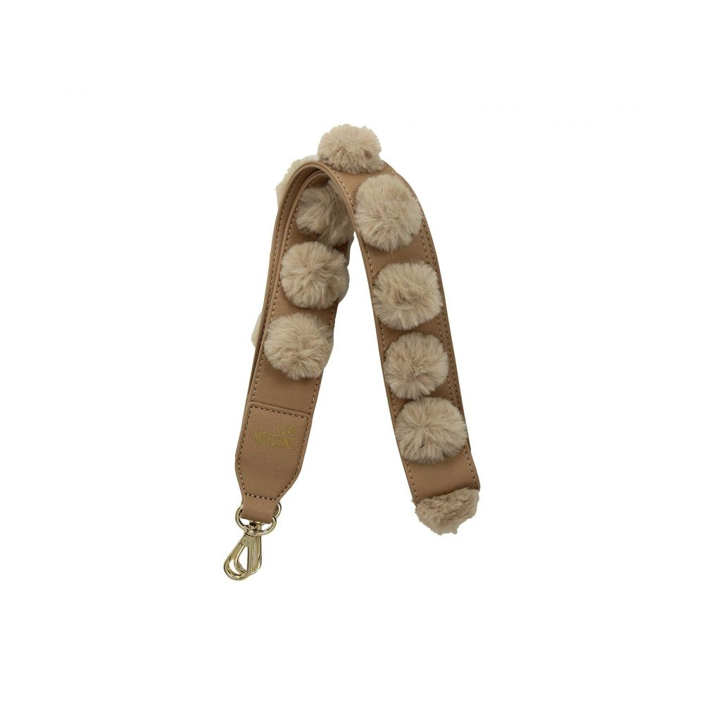 モスキーノ LOVE Moschino レディース バッグ ハンドバッグ【Pom Pom Handbag Strap】Camel