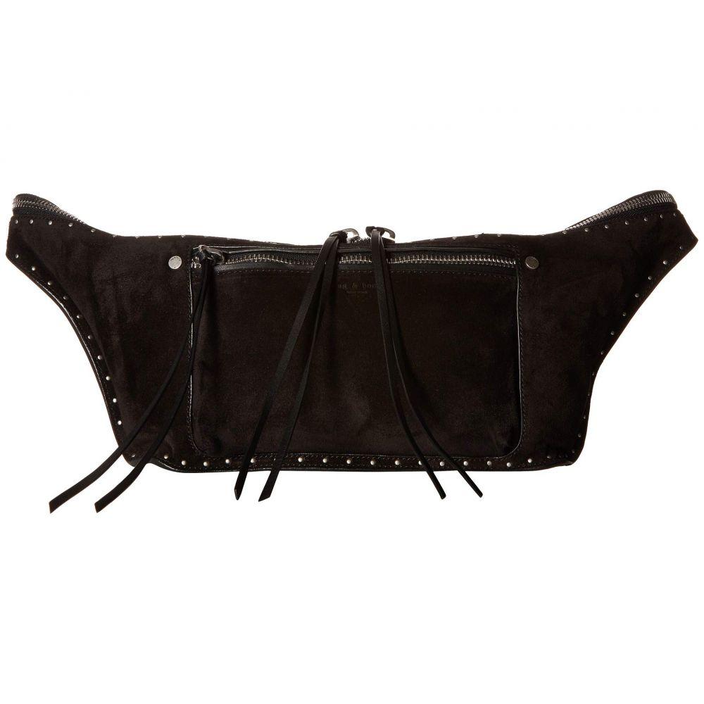 ラグ&ボーン rag & bone レディース バッグ ボディバッグ・ウエストポーチ【Large Elliot Fanny Pack】Black Stud Suede