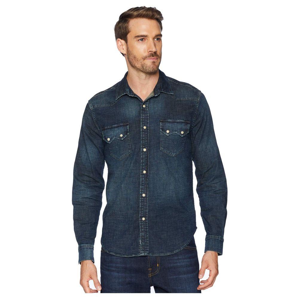 ラッキーブランド Lucky Brand メンズ トップス シャツ【Long Sleeve Sawtooth Denim Western Shirt】Seastack