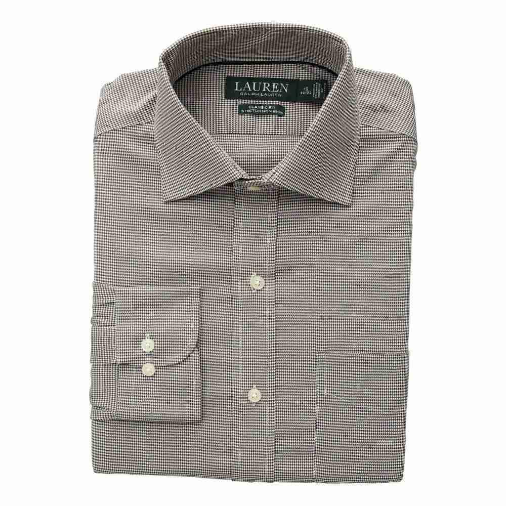 ラルフ ローレン LAUREN Ralph Lauren メンズ トップス シャツ【Classic Fit No-Iron Houndstooth Warren Dress Shirt】Latte/Antique White